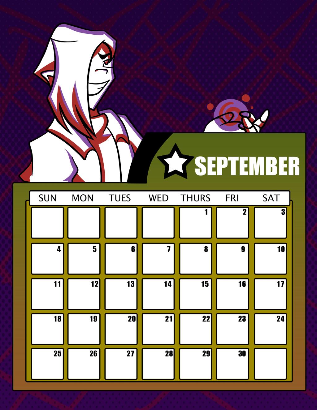 Deviantart Calendar : Dtgr calendar september by eleanorose on deviantart