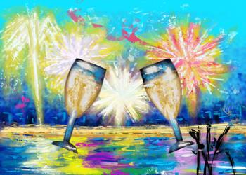 Happy New Year 2020! Painting by jadenamber