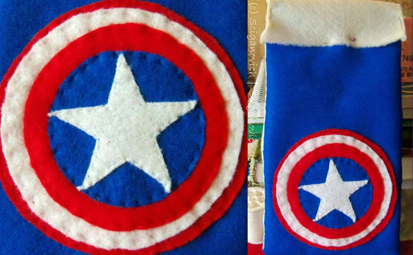 Captain America bag by SCiganovich