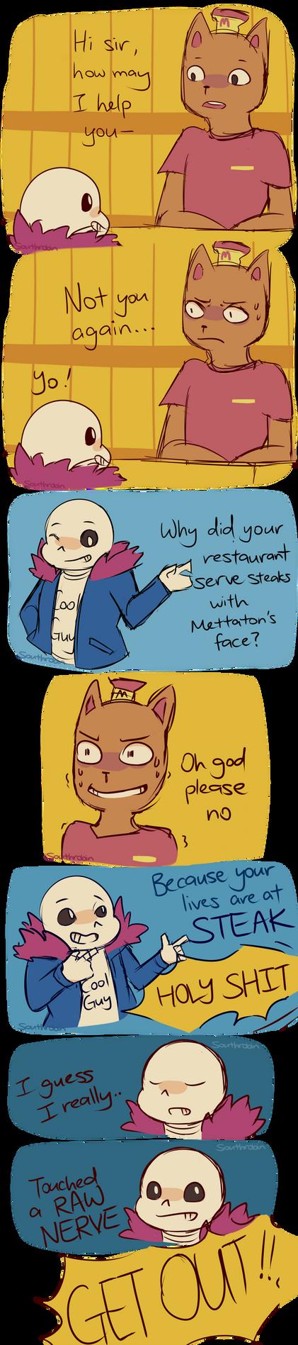 Comic - Mettaton Steaks by Southrobin
