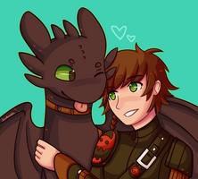 Com: Toothless and Hiccup