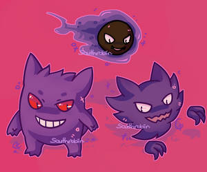 The Ghosty Trio by Southrobin