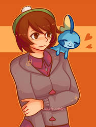 Sobble and their Trainer by Southrobin