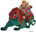 Battlecat and He-man