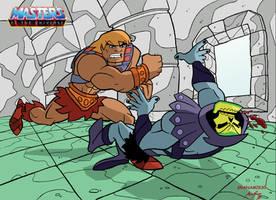 He-man vs Skeletor by Granamir30