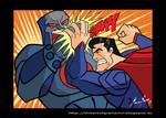 Superman vs Darkseid colors
