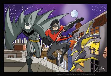 Batman-Nightwing-Batgirl by Granamir30 by Granamir30
