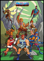 He-man and the Motu by Granamir30