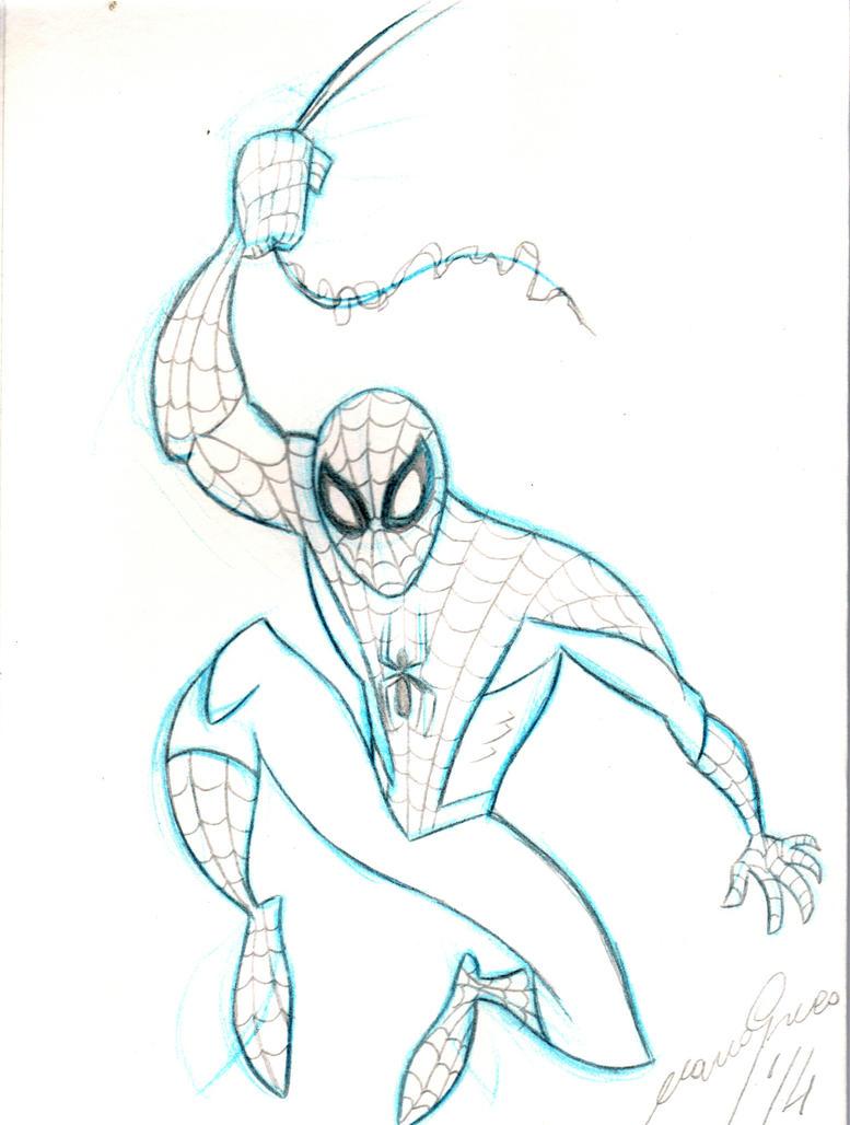 Spider-man sketch 1 by Granamir30