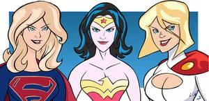 Supergirl Wonder Woman Power Girl