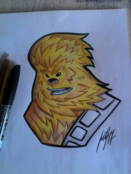 Chewbacca drawing and colors