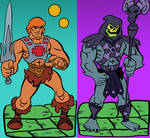 He-man vs Skeletor MAsters of the Universe