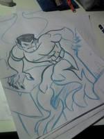 Gargoyles Goliat sketch by Granamir30