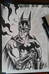 Batman black e white by Granamir30