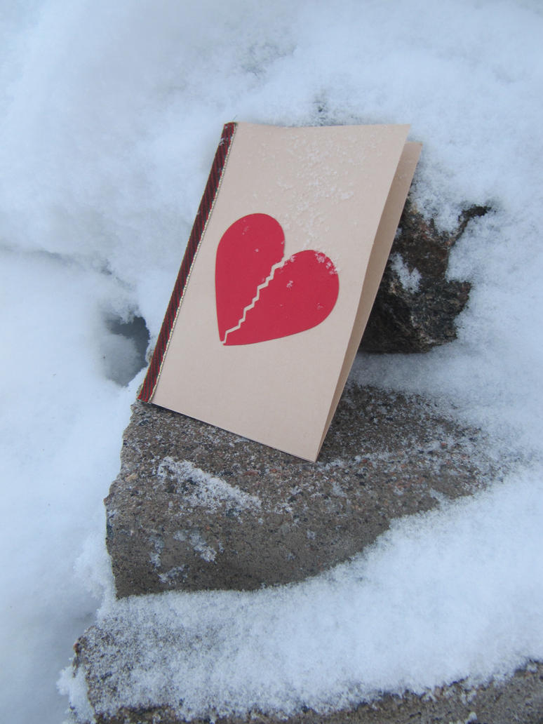 Broken heart card by Barashi