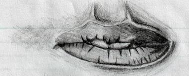 A women's lips