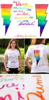 HP and Gay Pride T Shirt