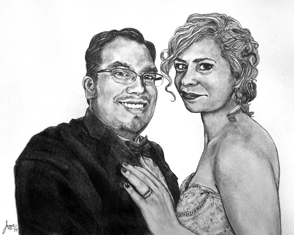 Dana and Emily Nicholson - wedding day portrait
