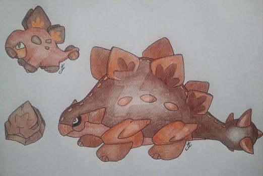 Stego/Ankylosaurus Pokemon
