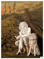 Elrohir and Nienna: version 2 by Argan-Gwengar