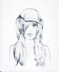 Girl with hat by loosum