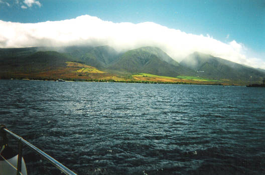 Ocean, Mountains, and Sky