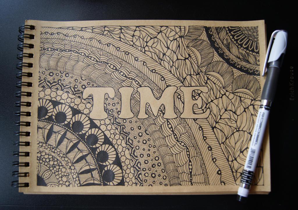 Zentangle: Time by snow-jorunn