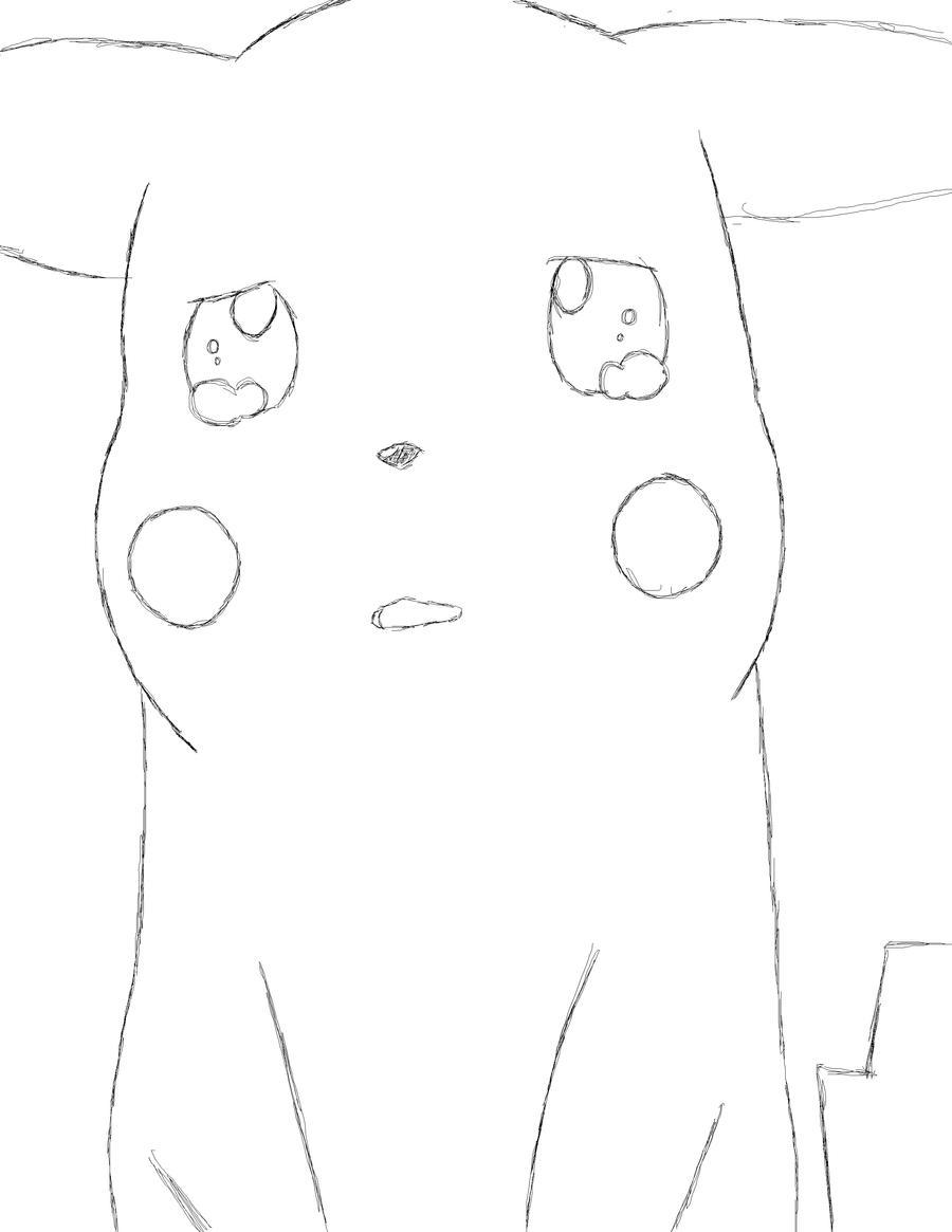 Pikachu crying drawing - photo#1