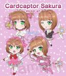 Cardcaptor Sakura sticker set by Aoshin23