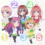 Gotoubun no Hanayome: Quintuplets Chibi by Aoshin23