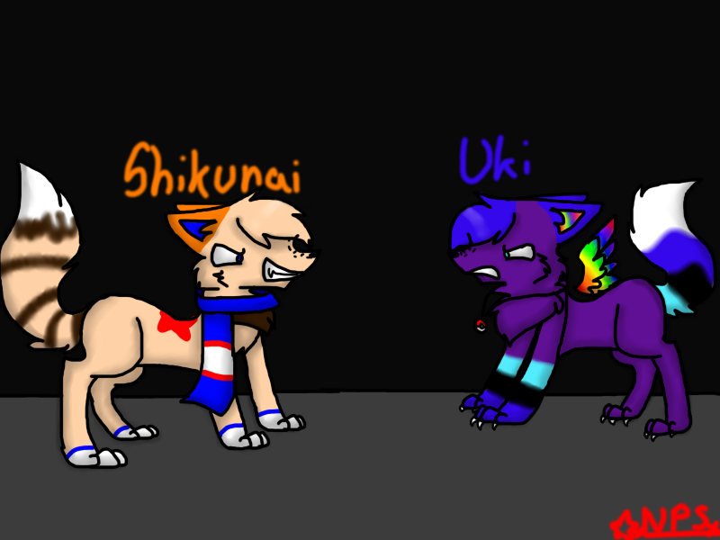 Fight Uki VS Shikunai by xTROPIC-CARRlBEAN
