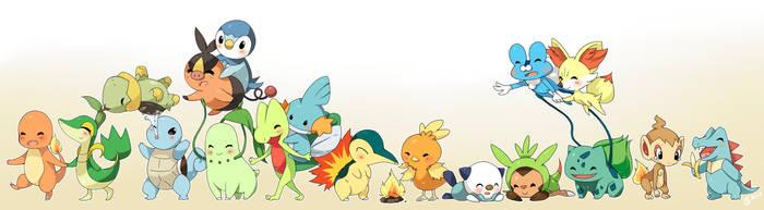 Pokemon Starters by jelliechan