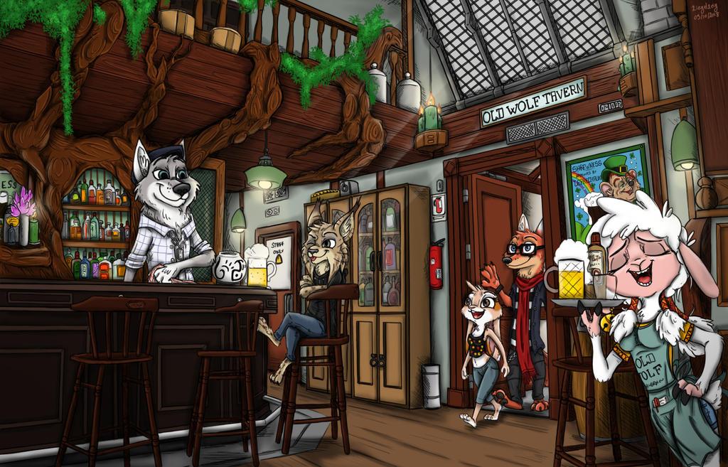 Old Wolf Tavern - Interior by Ziegelzeig