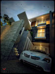 A House in Jakarta-Night View-