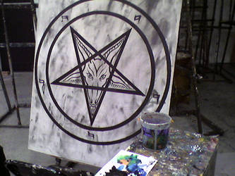pentagram painting by peachespartridge