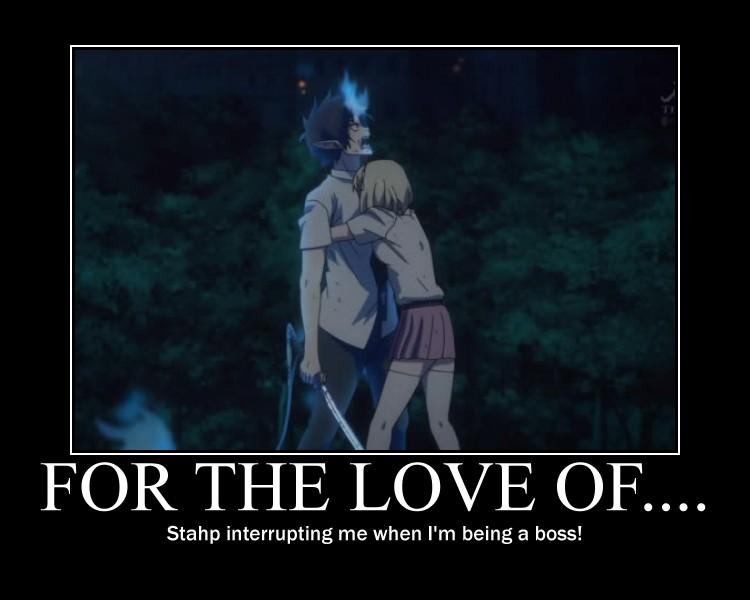 Ao No Exorcist Demotivational Poster by AnimeHomicidalIrken on