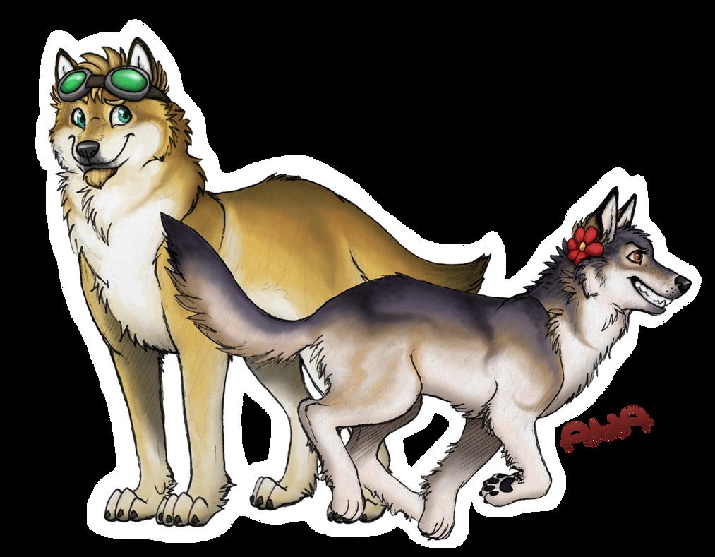 Werewolf Buddies by RatherPeculiar
