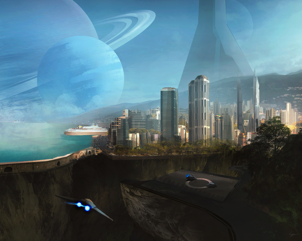 an other planet, an other city by She-Wolf-Design