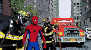 Spidey supports the NYFD