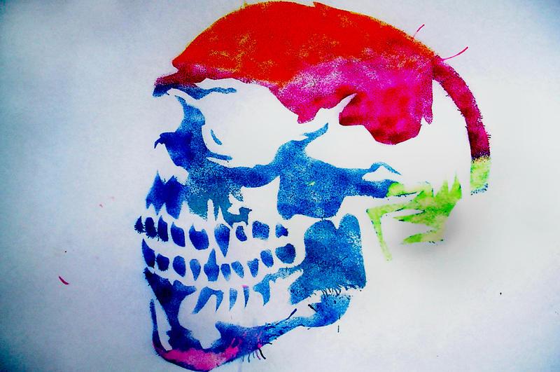 Skull Stencil by Myloman