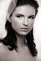 bride portrait by scata