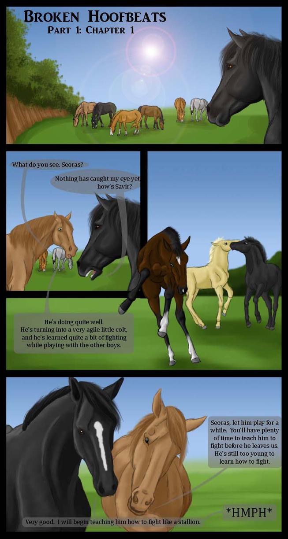 Broken Hoofbeats Part One: Page One by BrokenHoofbeats