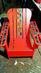 vibrant porch chair