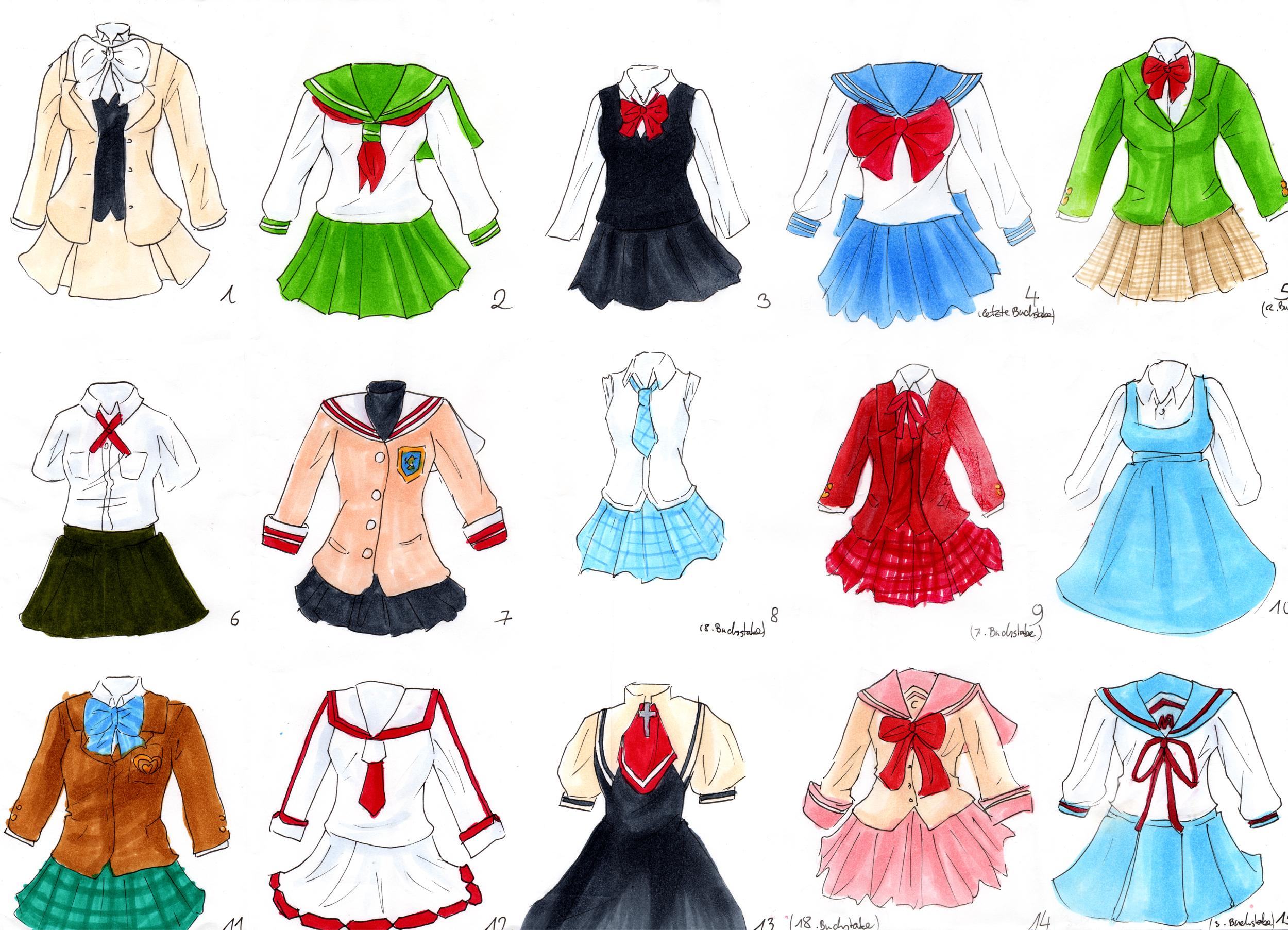 Anime School Clothes Designs – HD Wallpaper Gallery