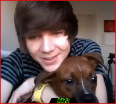 Damon Fizzy (DeeFizzy) With His Doggy :3 by SmoshyArt