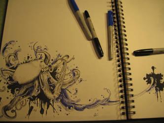 Octopus Spatter by mmpninja