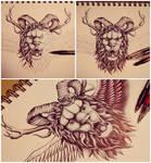 Lion head tat