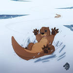 Otter Snow Day