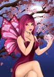 Sayuri - cherry blossoms and diamond by ChibiYvi