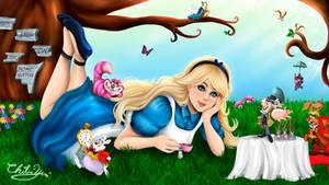 Alice in wondrland - Tea party! by ChibiYvi